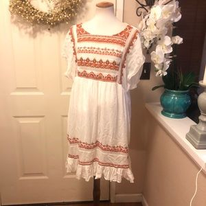 Boho Chic Free People Loose & Flowy Midi Dress